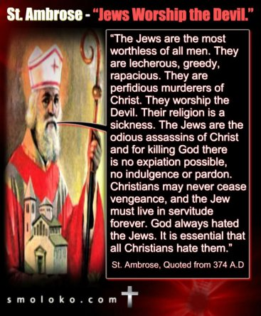 ambrose against jews DUHlJkhXkAEOYRz