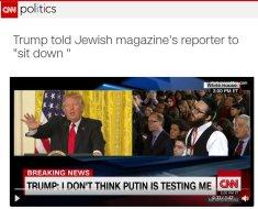 jew media rambling and lied said trump was racist
